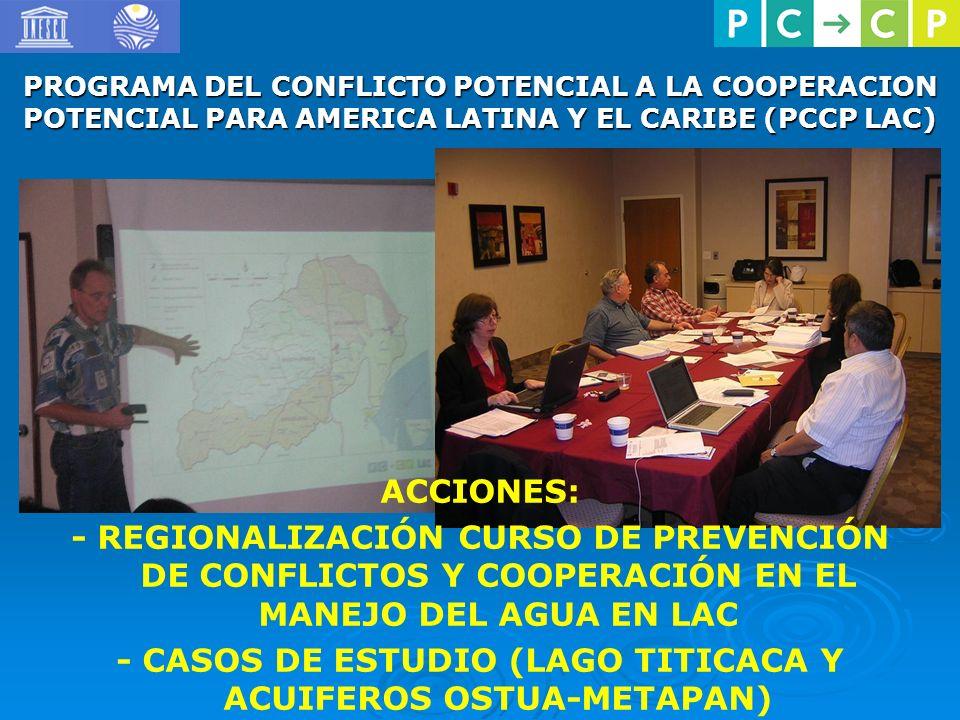 - CASOS DE ESTUDIO (LAGO TITICACA Y ACUIFEROS OSTUA-METAPAN)