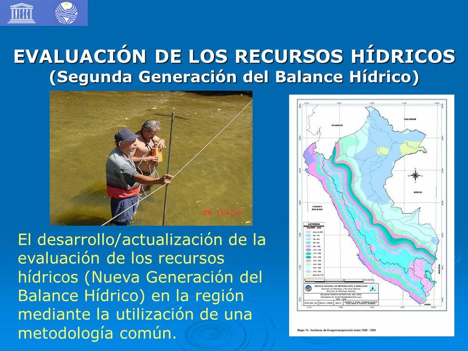EVALUACIÓN DE LOS RECURSOS HÍDRICOS (Segunda Generación del Balance Hídrico)