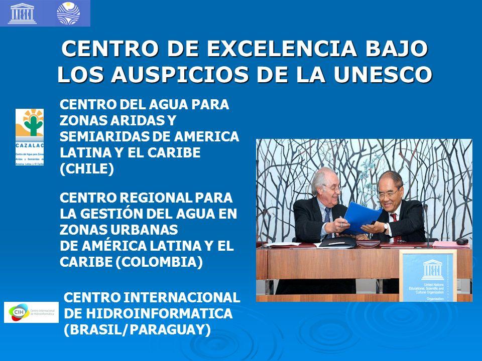 CENTRO DE EXCELENCIA BAJO LOS AUSPICIOS DE LA UNESCO