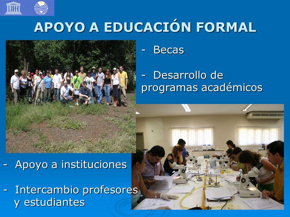 APOYO A EDUCACIÓN FORMAL
