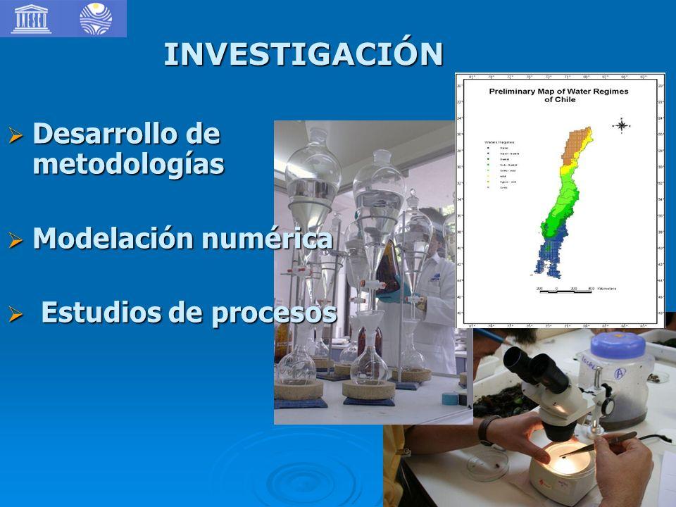 INVESTIGACIÓN Desarrollo de metodologías Modelación numérica