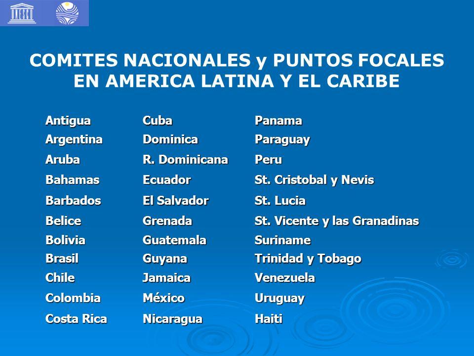 COMITES NACIONALES y PUNTOS FOCALES EN AMERICA LATINA Y EL CARIBE