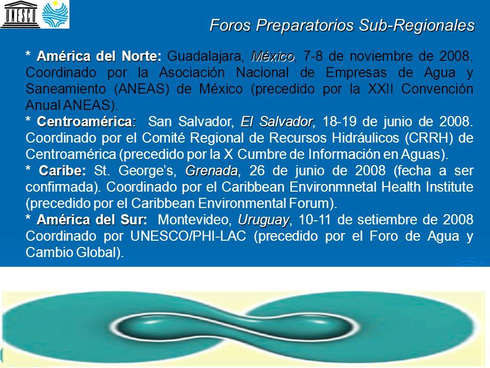 Foros Preparatorios Sub-Regionales