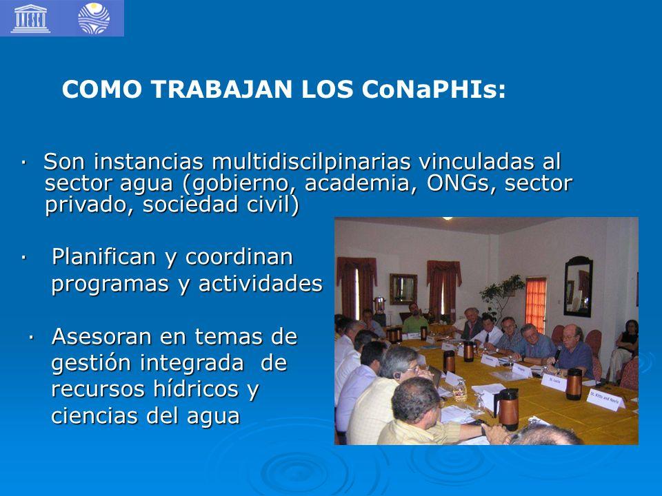 COMO TRABAJAN LOS CoNaPHIs: