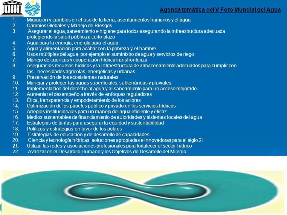 Agenda temática del V Foro Mundial del Agua