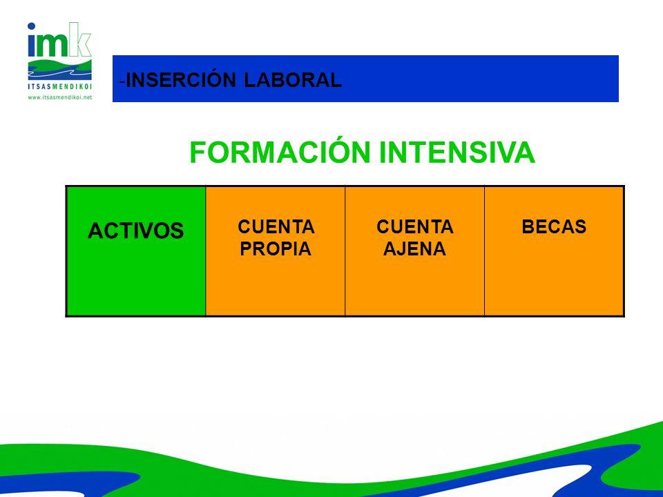 FORMACIÓN INTENSIVA ACTIVOS -INSERCIÓN LABORAL CUENTA PROPIA