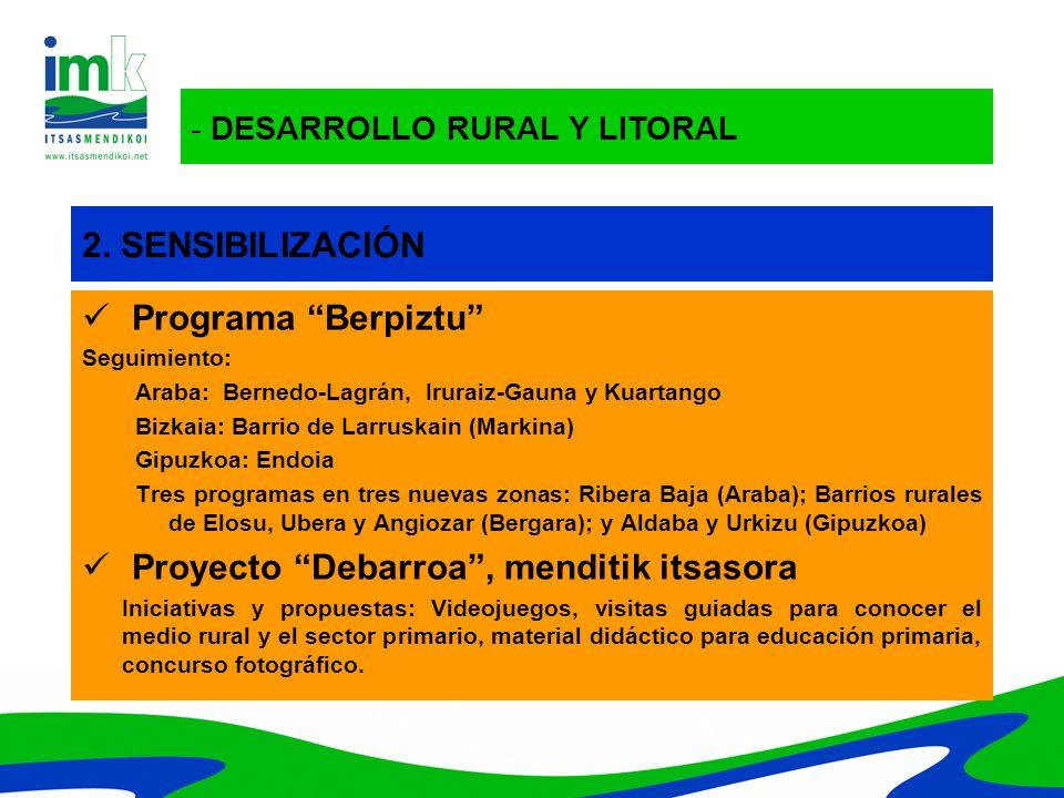 Proyecto Debarroa , menditik itsasora