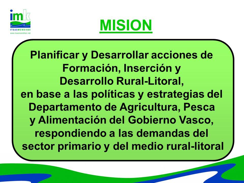 MISION Planificar y Desarrollar acciones de Formación, Inserción y