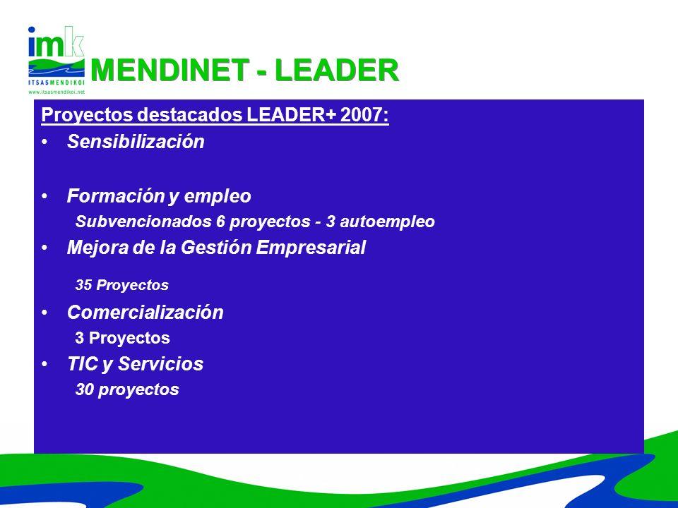 MENDINET - LEADER Proyectos destacados LEADER+ 2007: Sensibilización