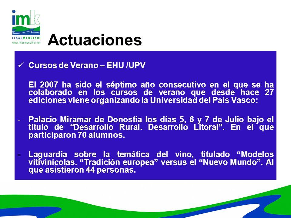 Actuaciones Cursos de Verano – EHU /UPV