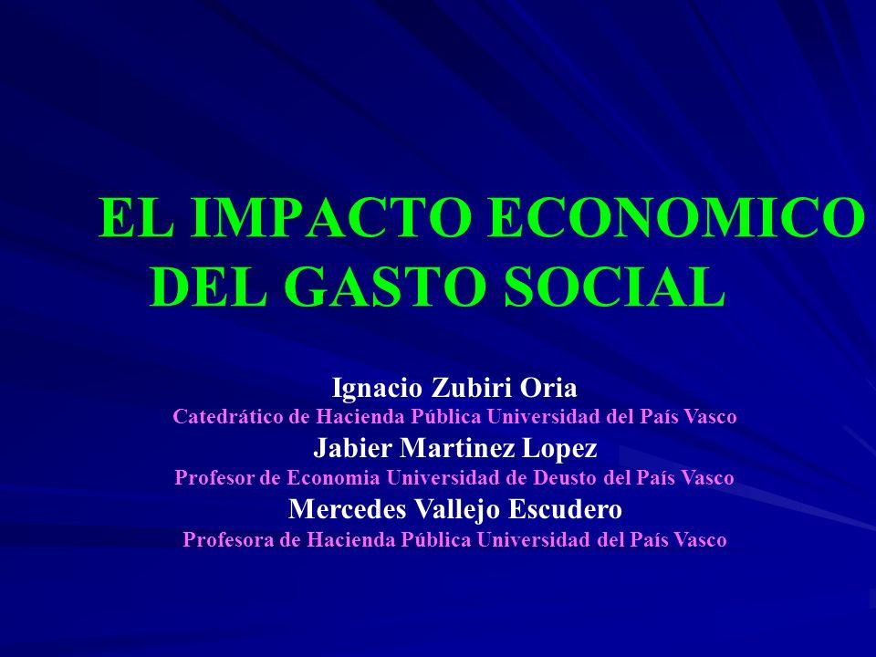 EL IMPACTO ECONOMICO DEL GASTO SOCIAL