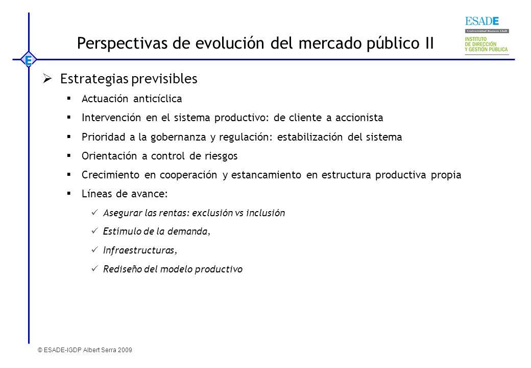 Perspectivas de evolución del mercado público II