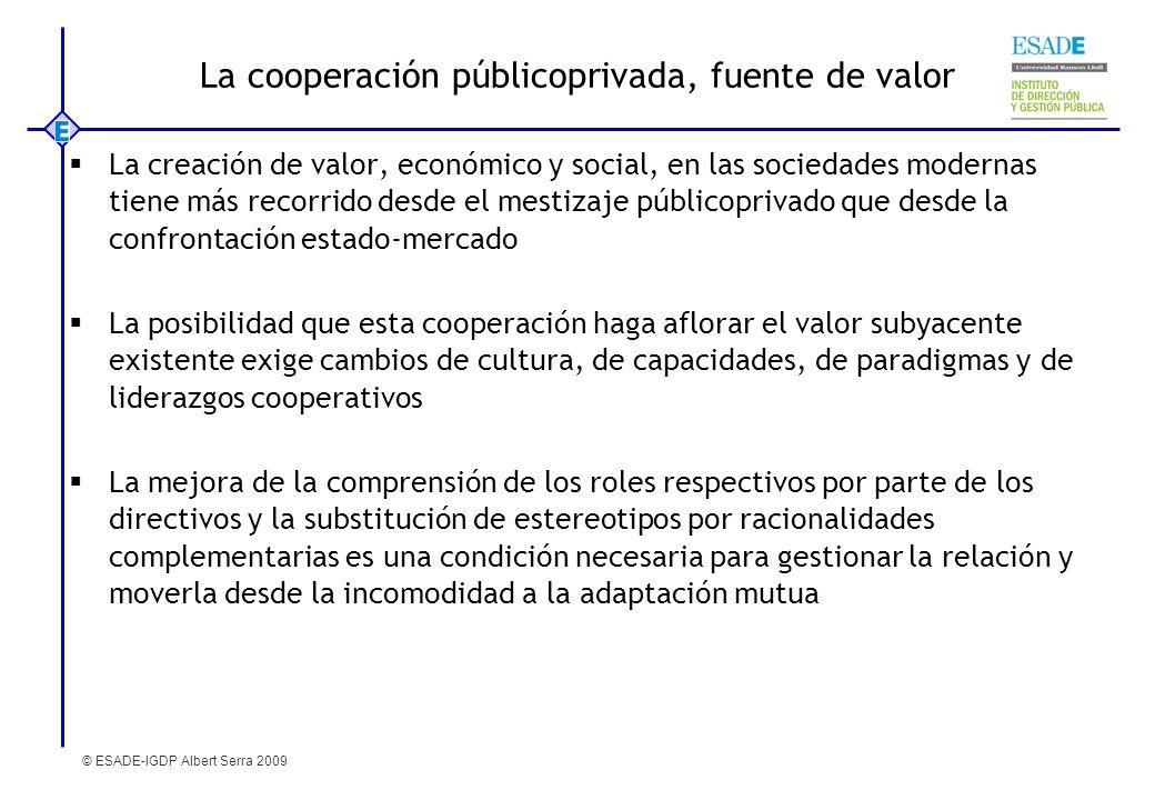 La cooperación públicoprivada, fuente de valor