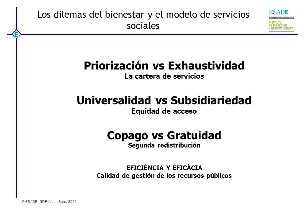 Los dilemas del bienestar y el modelo de servicios sociales