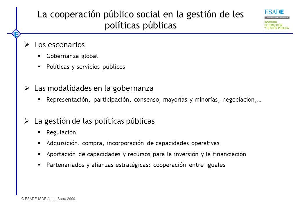 La cooperación público social en la gestión de les políticas públicas