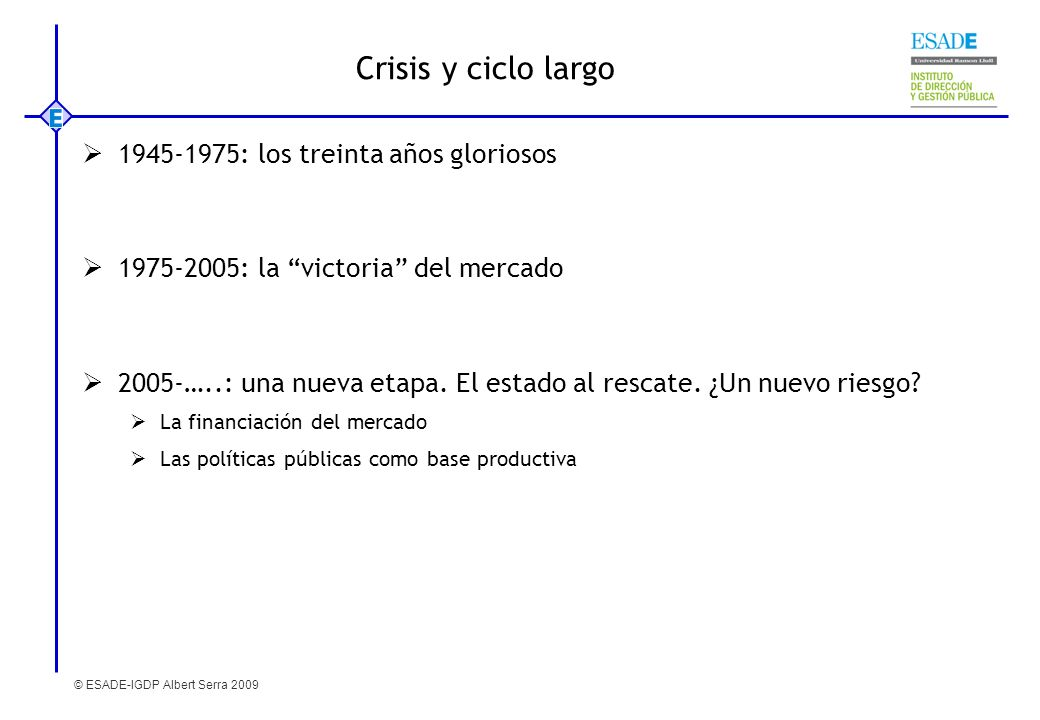 Crisis y ciclo largo 1945-1975: los treinta años gloriosos