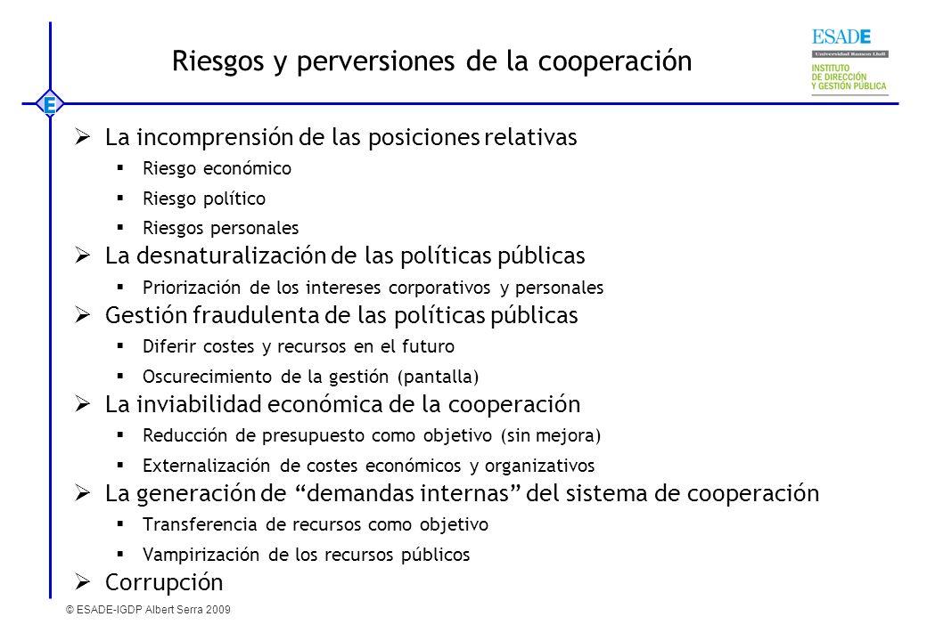 Riesgos y perversiones de la cooperación