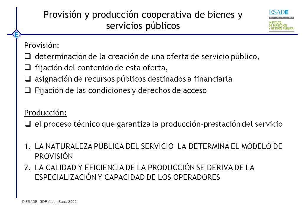 Provisión y producción cooperativa de bienes y servicios públicos