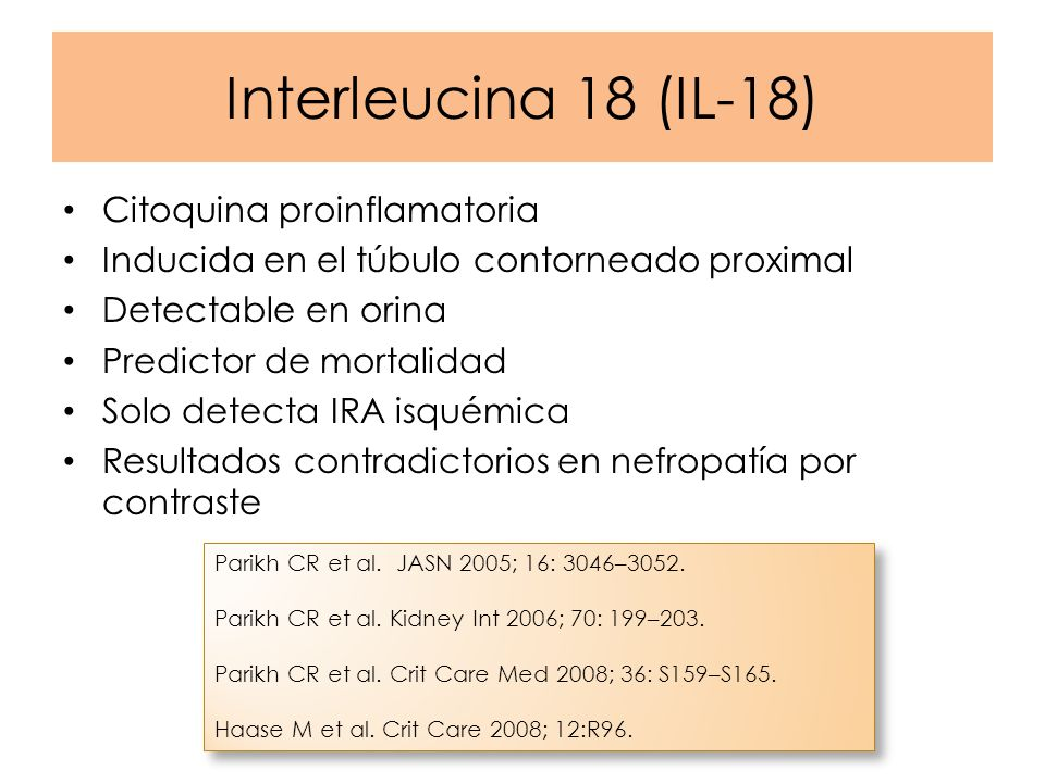 Interleucina 18 (IL-18) Citoquina proinflamatoria