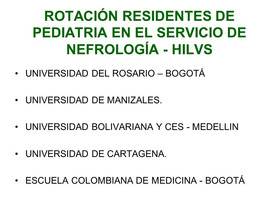 ROTACIÓN RESIDENTES DE PEDIATRIA EN EL SERVICIO DE NEFROLOGÍA - HILVS