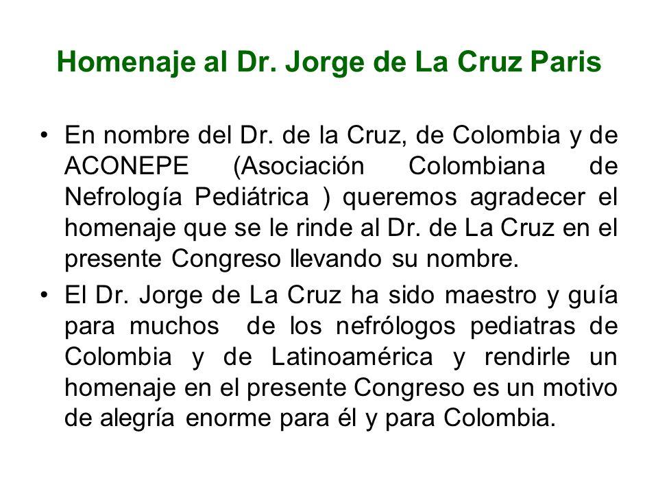 Homenaje al Dr. Jorge de La Cruz Paris