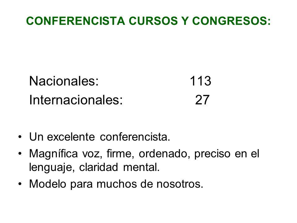 CONFERENCISTA CURSOS Y CONGRESOS: