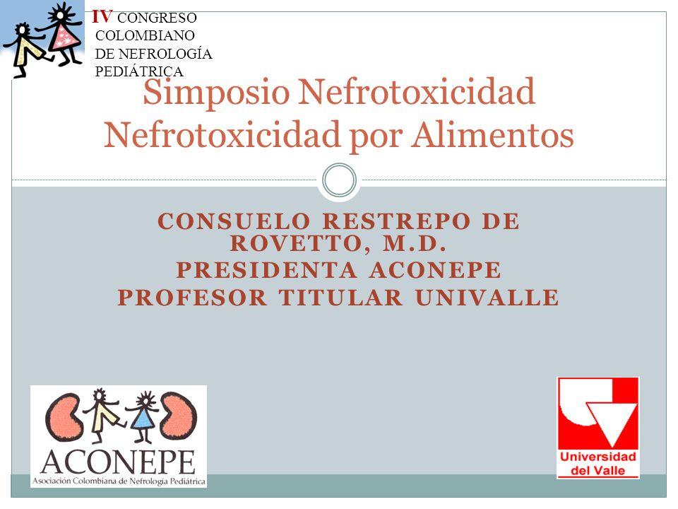 Simposio Nefrotoxicidad Nefrotoxicidad por Alimentos