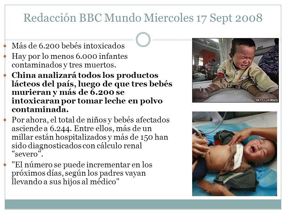 Redacción BBC Mundo Miercoles 17 Sept 2008