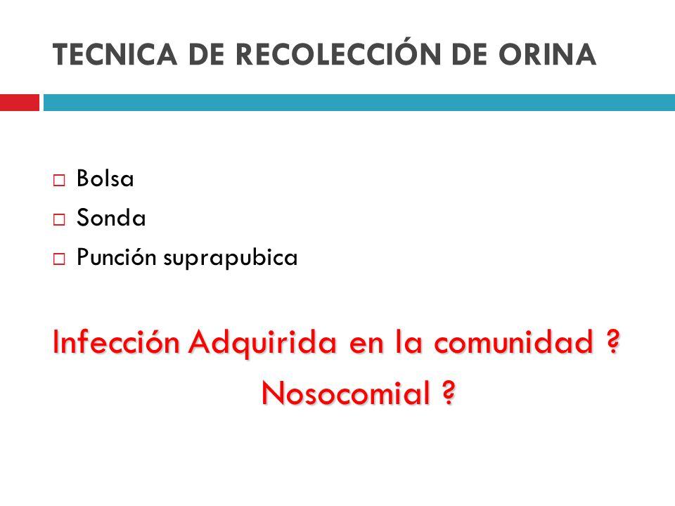 TECNICA DE RECOLECCIÓN DE ORINA