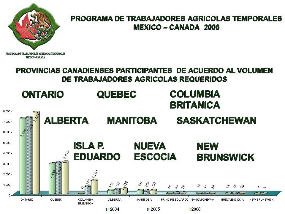 PROGRAMA DE TRABAJADORES AGRICOLAS TEMPORALES