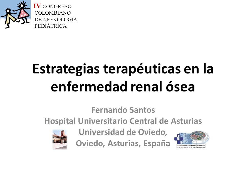 Estrategias terapéuticas en la enfermedad renal ósea