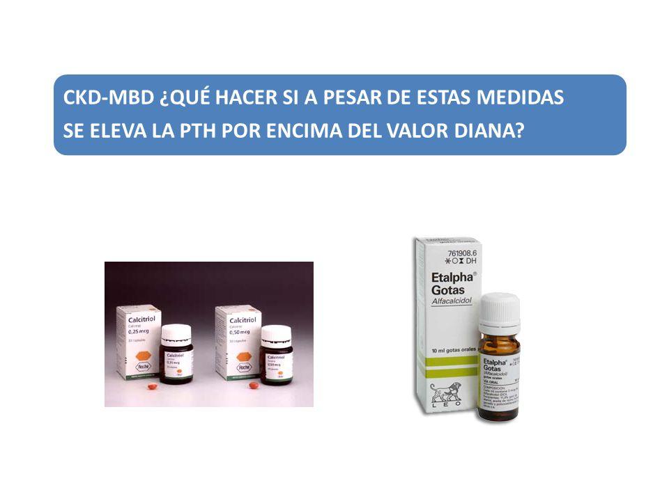 CKD-MBD ¿QUÉ HACER SI A PESAR DE ESTAS MEDIDAS