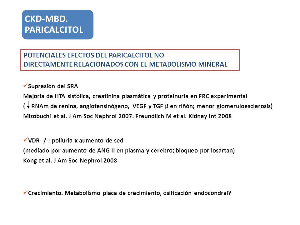 CKD-MBD. PARICALCITOL POTENCIALES EFECTOS DEL PARICALCITOL NO