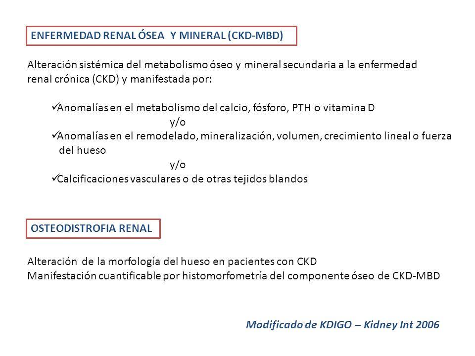 ENFERMEDAD RENAL ÓSEA Y MINERAL (CKD-MBD)
