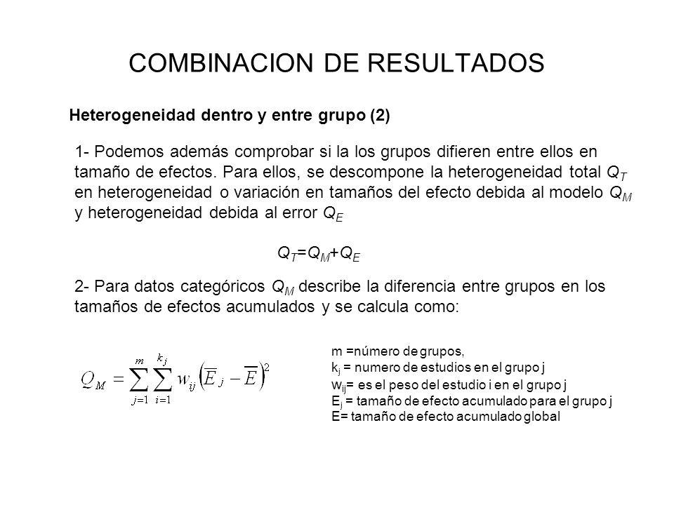 COMBINACION DE RESULTADOS
