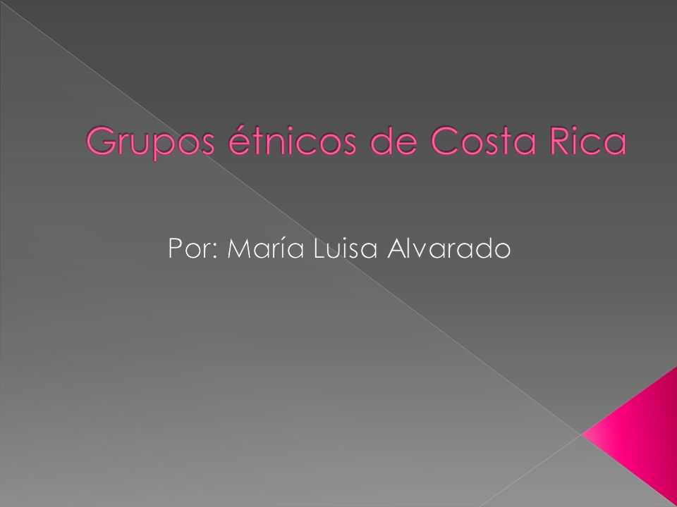 Grupos étnicos de Costa Rica