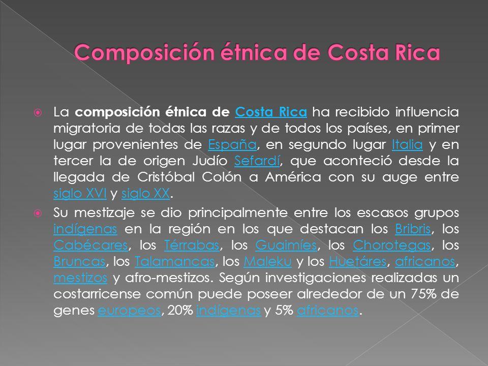 Composición étnica de Costa Rica