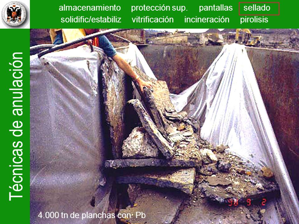 Se encontraron gran cantidad de planchas de residuos de la fundición y se llevaron también a la Exide Corp. para su reciclado.
