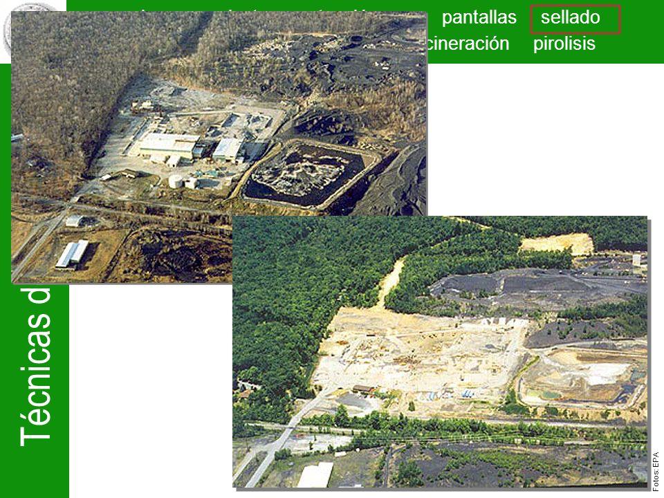 Antes y durante las operaciones de remediación