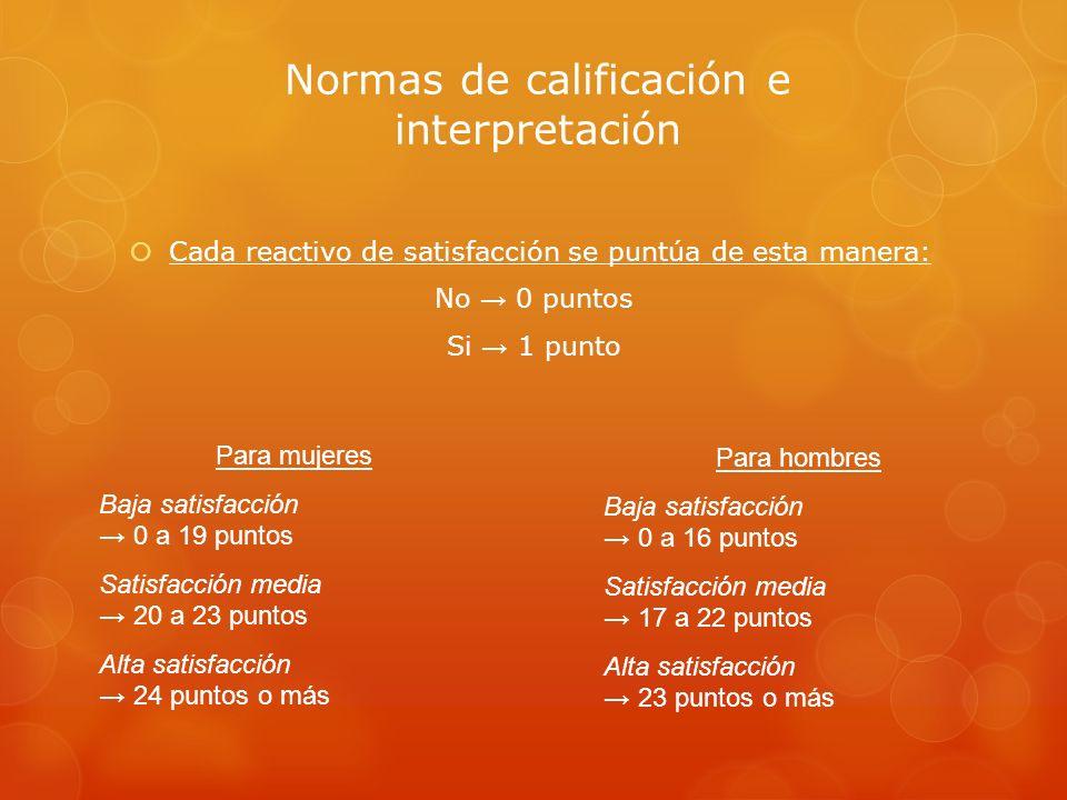 Normas de calificación e interpretación
