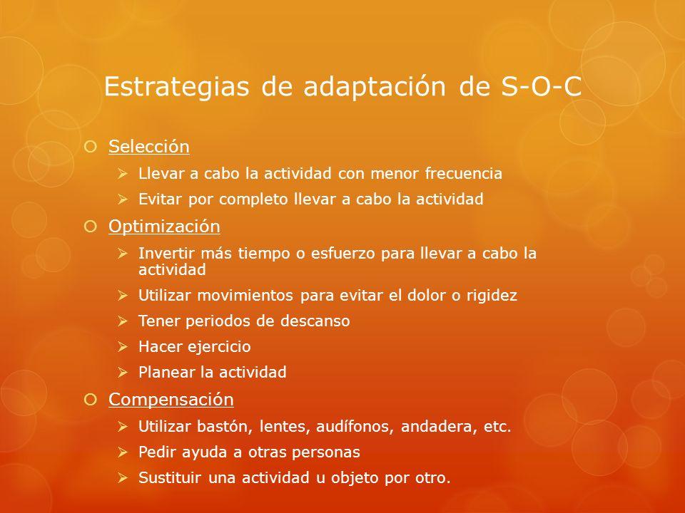 Estrategias de adaptación de S-O-C