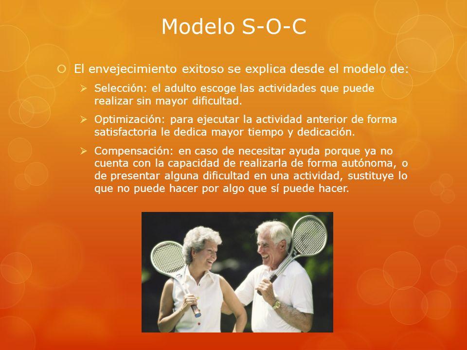 Modelo S-O-C El envejecimiento exitoso se explica desde el modelo de: