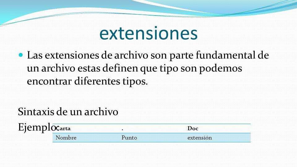explorador de windows objetivo aprender a utilizar el On que tipo de extensiones son las mejores