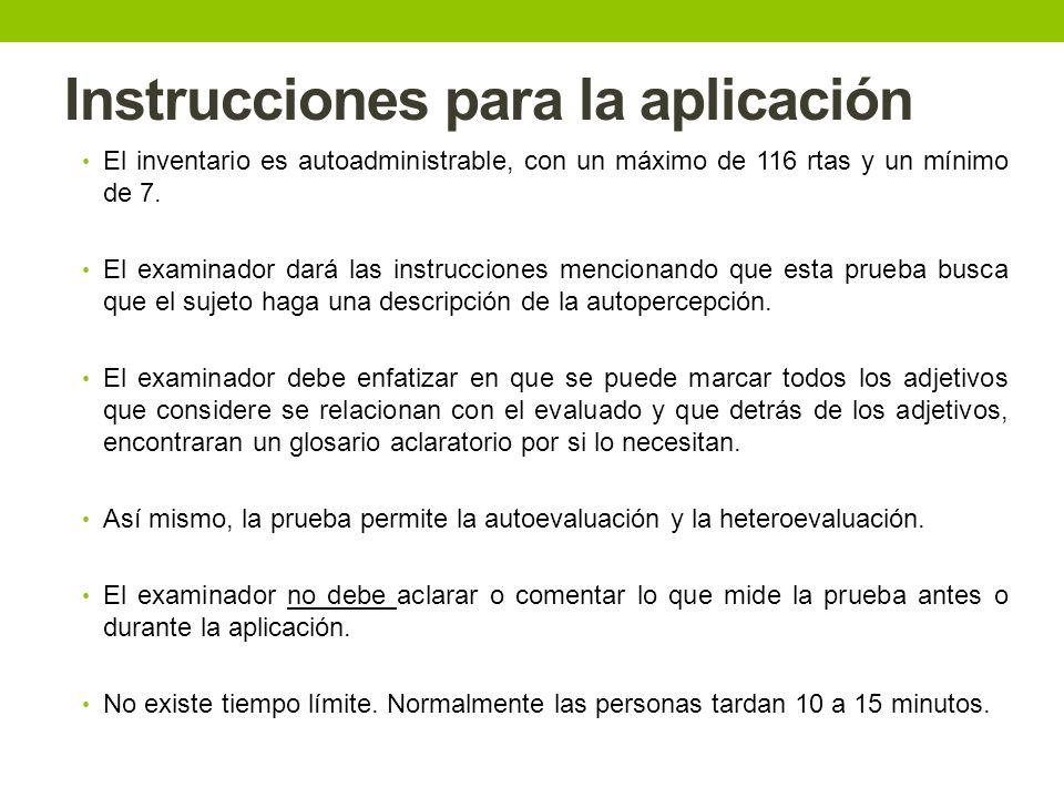 Instrucciones para la aplicación