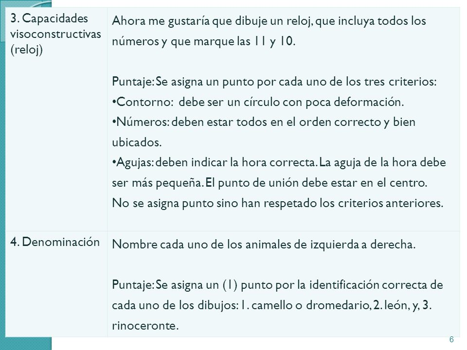 3. Capacidades visoconstructivas (reloj)