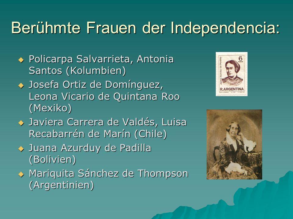 Berühmte Frauen der Independencia: