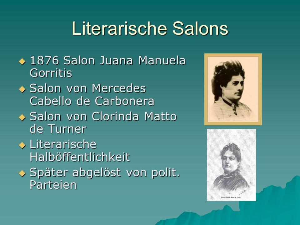 Literarische Salons 1876 Salon Juana Manuela Gorritis