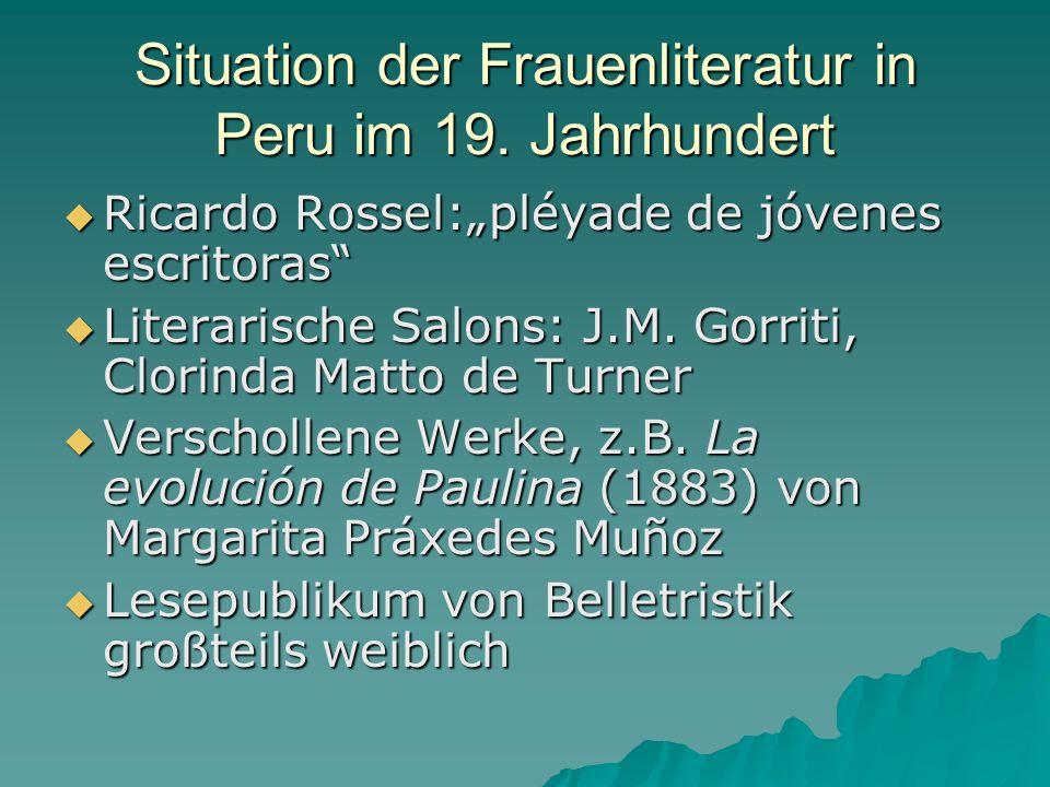 Situation der Frauenliteratur in Peru im 19. Jahrhundert