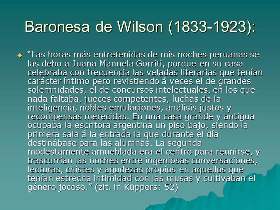 Baronesa de Wilson (1833-1923):