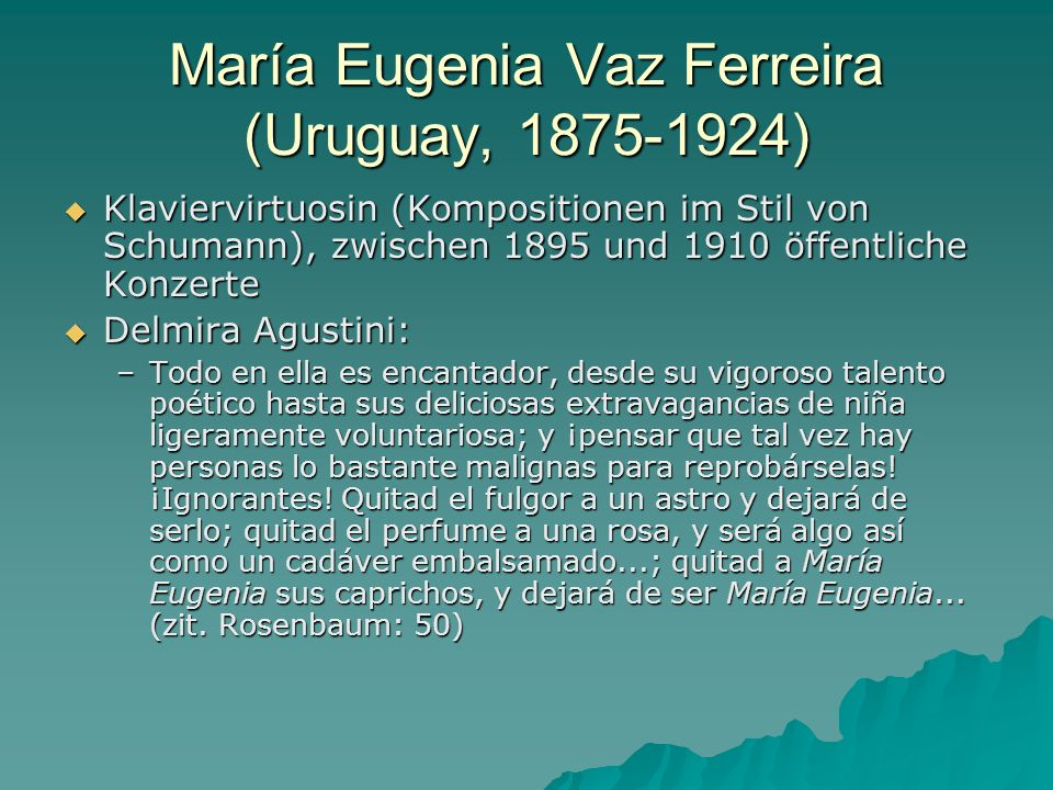 María Eugenia Vaz Ferreira (Uruguay, 1875-1924)